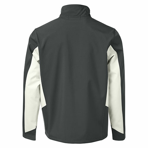 Custom Printed Coal Harbour J7602 Everyday Colour Block Soft Shell Jacket - 4 - Back View | ThatShirt