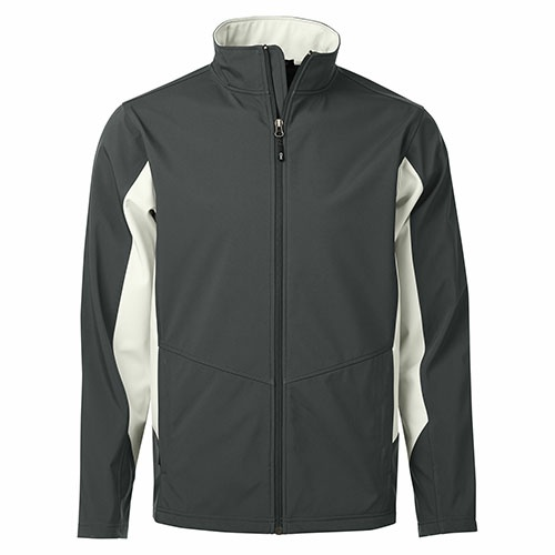 Custom Printed Coal Harbour J7602 Everyday Colour Block Soft Shell Jacket - 4 - Front View | ThatShirt