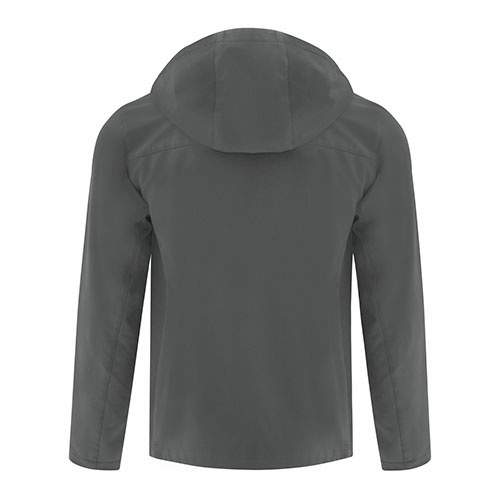 Custom Printed Coal Harbour J7605 Essential Hooded Soft Shell Jacket - 1 - Back View | ThatShirt