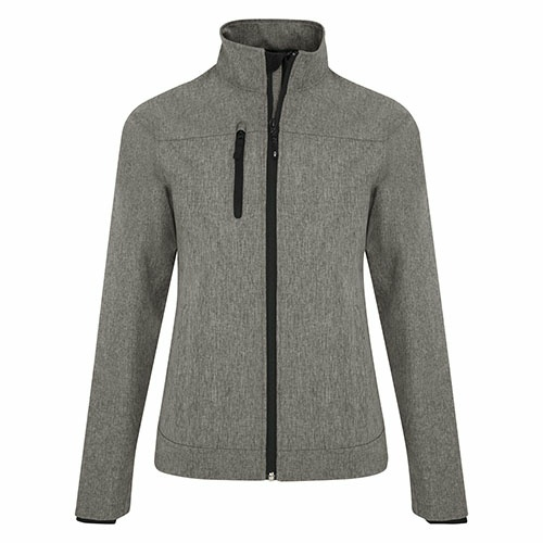 Custom Printed Coal Harbour L0760 Premiere Soft Shell Ladies' Jacket - Front View | ThatShirt