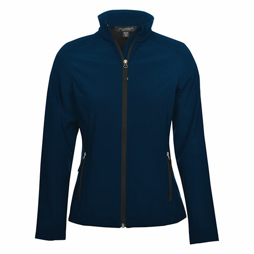 Custom Printed Coal Harbour L7603 Everyday Soft Shell Ladies' Jacket - Front View | ThatShirt