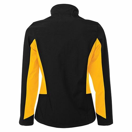 Custom Printed Coal Harbour L7604 Everyday Colour Block Soft Shell Ladies Jacket -  - Back View | ThatShirt