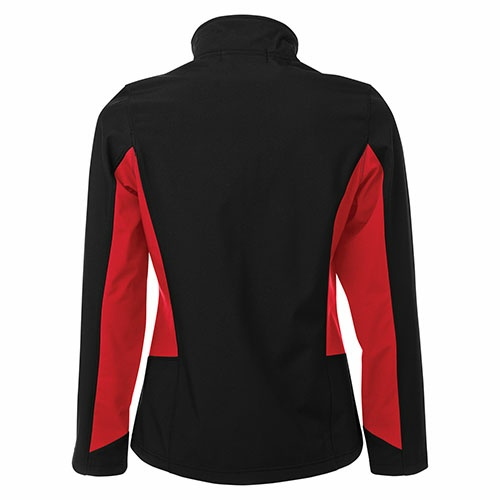 Custom Printed Coal Harbour L7604 Everyday Colour Block Soft Shell Ladies Jacket - 2 - Back View | ThatShirt