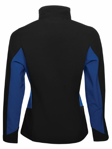Custom Printed Coal Harbour L7604 Everyday Colour Block Soft Shell Ladies Jacket - 3 - Back View | ThatShirt