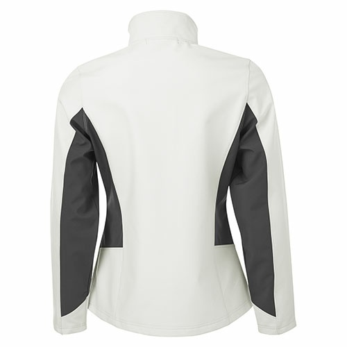 Custom Printed Coal Harbour L7604 Everyday Colour Block Soft Shell Ladies Jacket - 4 - Back View | ThatShirt