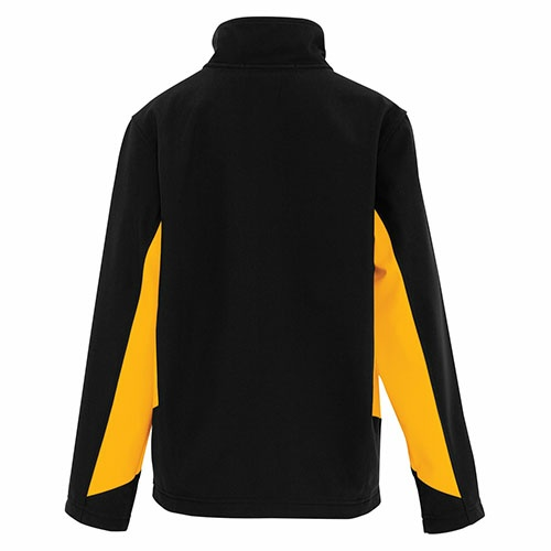Custom Printed Coal Harbour Y7604 Everyday Colour Block Soft Shell Youth Jacket -  - Back View | ThatShirt