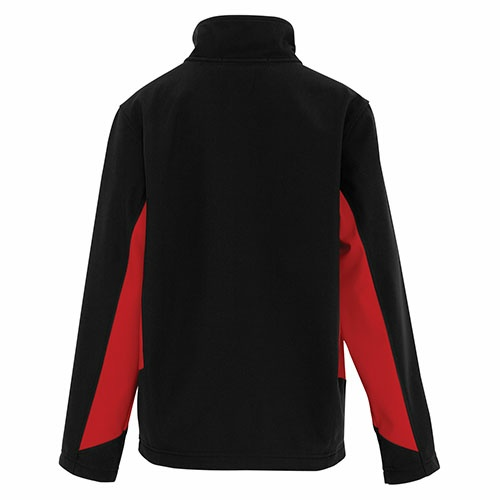 Custom Printed Coal Harbour Y7604 Everyday Colour Block Soft Shell Youth Jacket - 1 - Back View | ThatShirt