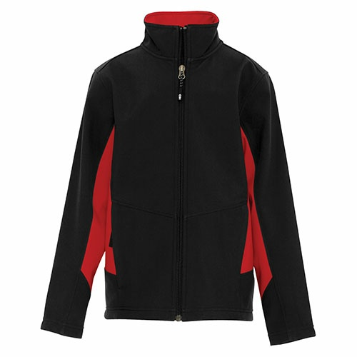 Custom Printed Coal Harbour Y7604 Everyday Colour Block Soft Shell Youth Jacket - Front View | ThatShirt