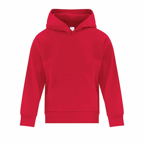 Custom Printed ATC Y2500 EVERYDAY FLEECE HOODED YOUTH SWEATSHIRT - 10 - Front View | ThatShirt