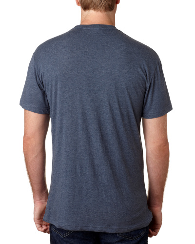 Custom Printed Next Level 6010 Premium Men's Triblend Crew - 0 - Back View | ThatShirt