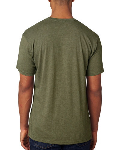 Custom Printed Next Level 6010 Premium Men's Triblend Crew - 5 - Back View | ThatShirt