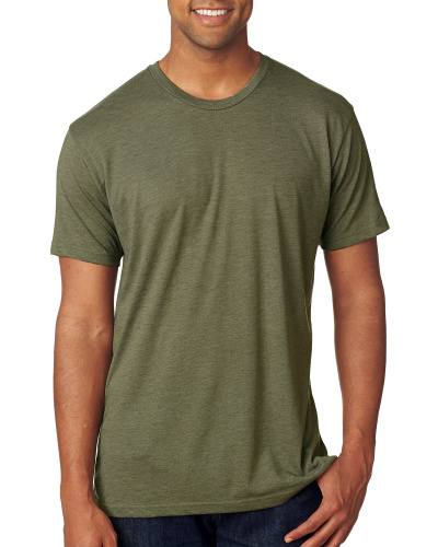 Custom Printed Next Level 6010 Premium Men's Triblend Crew - 5 - Front View | ThatShirt