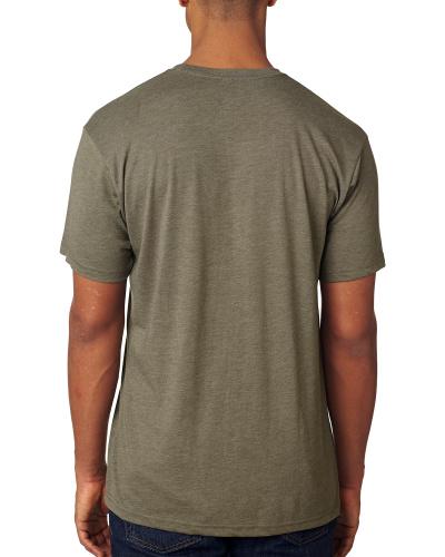 Custom Printed Next Level 6010 Premium Men's Triblend Crew - 6 - Back View | ThatShirt