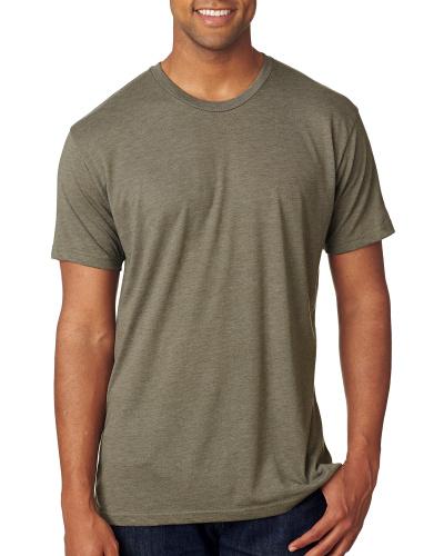 Custom Printed Next Level 6010 Premium Men's Triblend Crew - Front View | ThatShirt