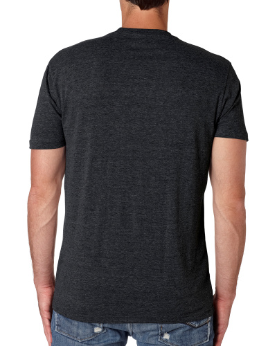 Custom Printed Next Level 6010 Premium Men's Triblend Crew - 7 - Back View | ThatShirt