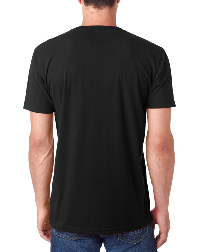 Custom Printed Next Level 6440 Men's Sueded V-Neck - 3 - Back View | ThatShirt