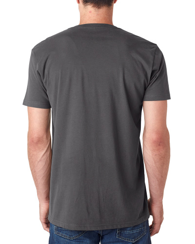 Custom Printed Next Level 6440 Men's Sueded V-Neck - 1 - Back View | ThatShirt