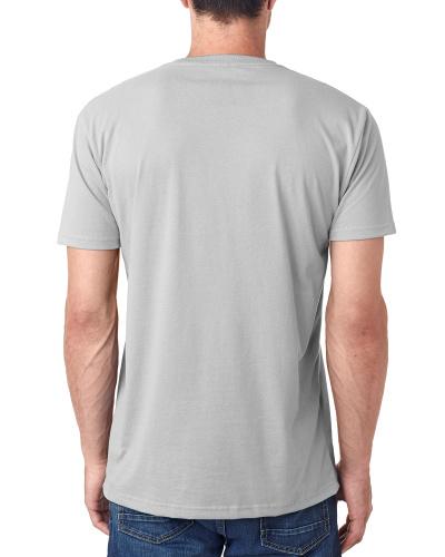 Custom Printed Next Level 6440 Men's Sueded V-Neck - 2 - Back View | ThatShirt