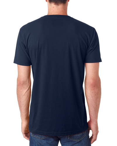 Custom Printed Next Level 6440 Men's Sueded V-Neck - 6 - Back View | ThatShirt