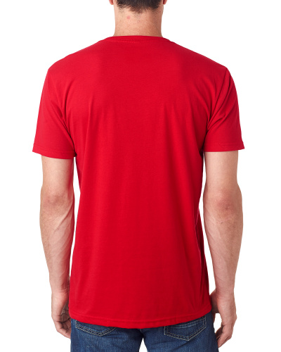 Custom Printed Next Level 6440 Men's Sueded V-Neck - 4 - Back View | ThatShirt