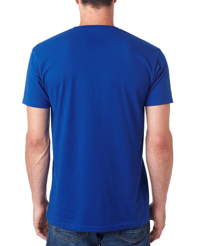 Custom Printed Next Level 6440 Men's Sueded V-Neck - 5 - Back View | ThatShirt