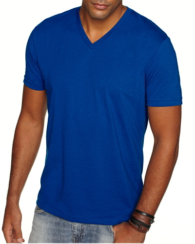 Custom Printed Next Level 6440 Men's Sueded V-Neck - Front View | ThatShirt