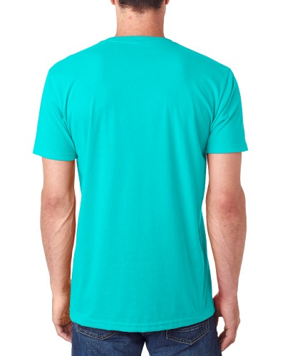 Custom Printed Next Level 6440 Men's Sueded V-Neck - 7 - Back View | ThatShirt