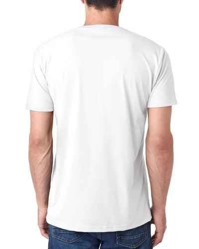 Custom Printed Next Level 6440 Men's Sueded V-Neck - 0 - Back View | ThatShirt